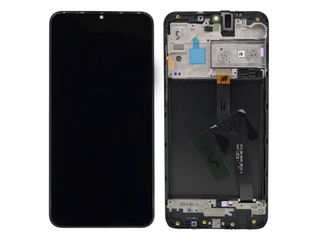 Γνήσια Οθόνη & Μηχανισμός Αφής Samsung SM-A105F Galaxy A10 Μαύρο GH82-20227A; GH82-19515A; GH82-20322A