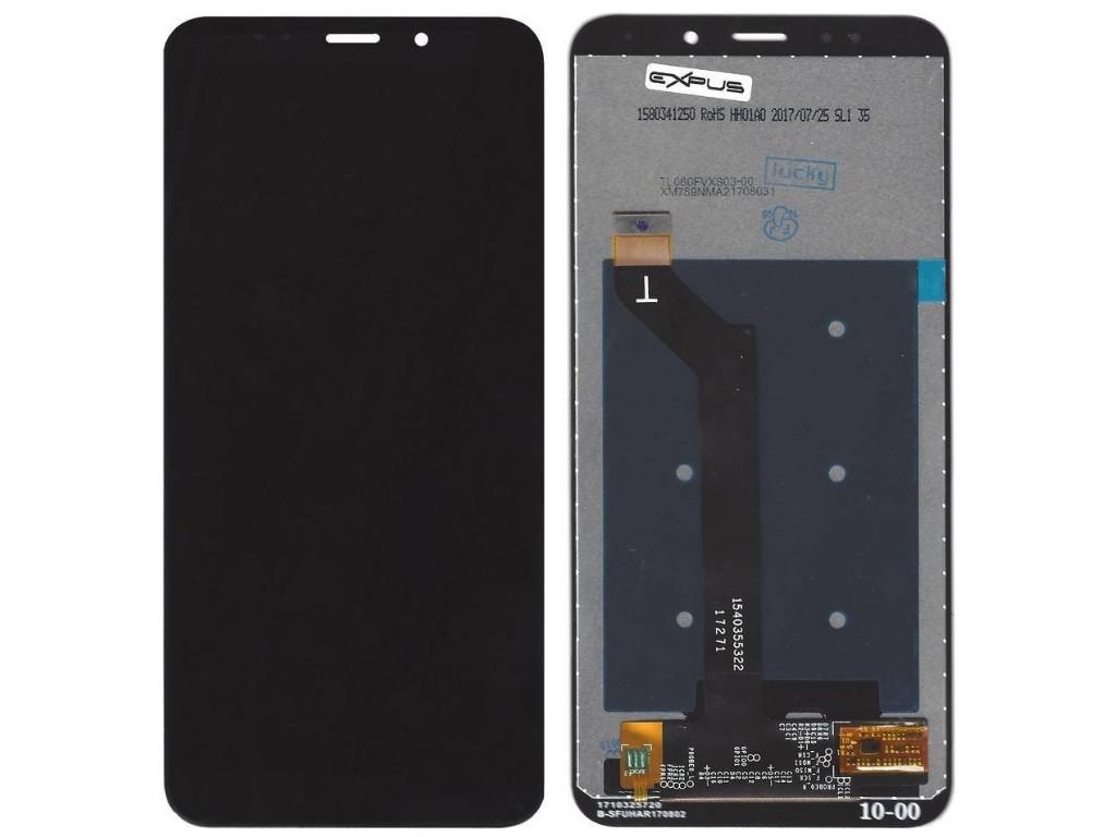 οθόνη και Μηχανισμός Αφής για Xiaomi Redmi 5 Plus Μαύρο.