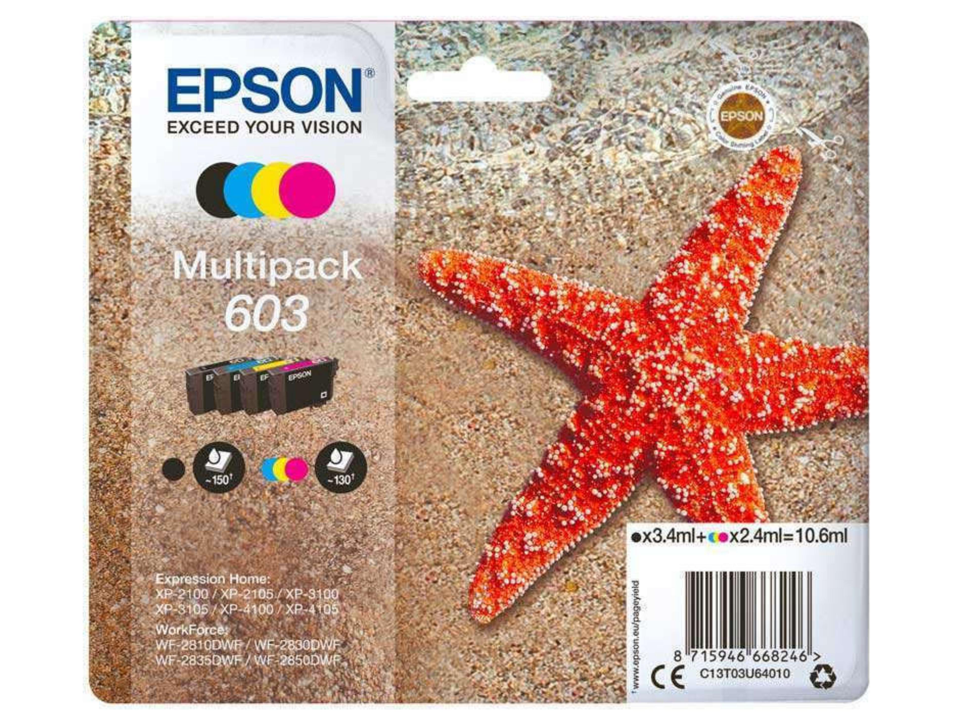 Μελάνι Epson Inkjet No 603 Multipack (C13T03U64010)