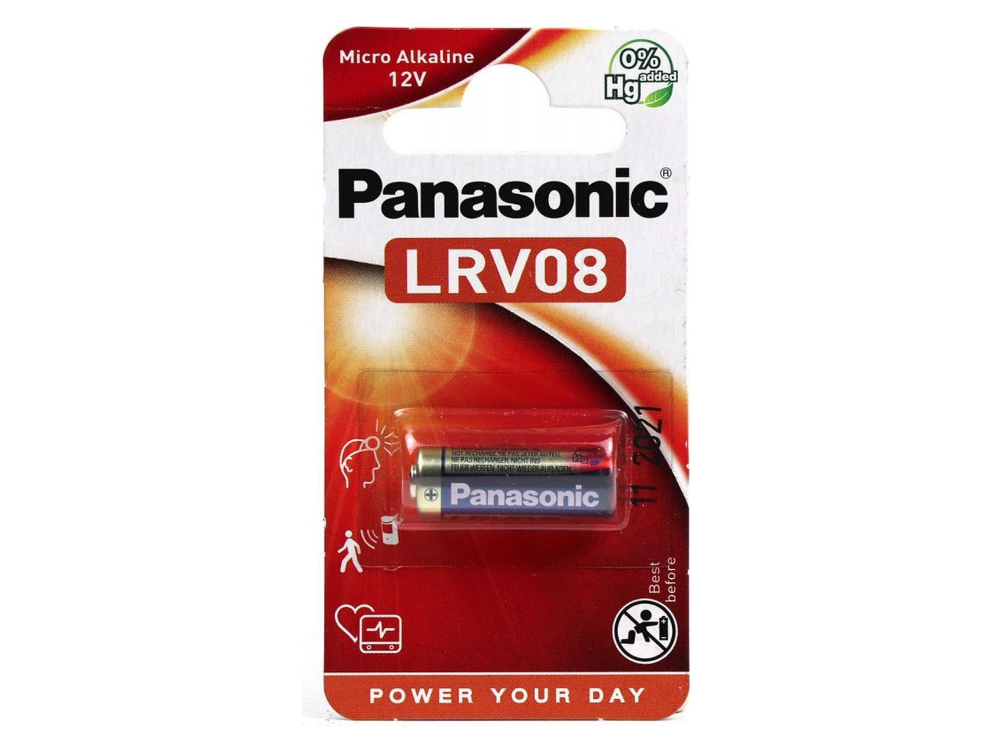 Μπαταρία Αλκαλική Panasonic LRV08 23A, 23GA, A23, E23A, GP23A, K23A, L1028, Τεμ. 1