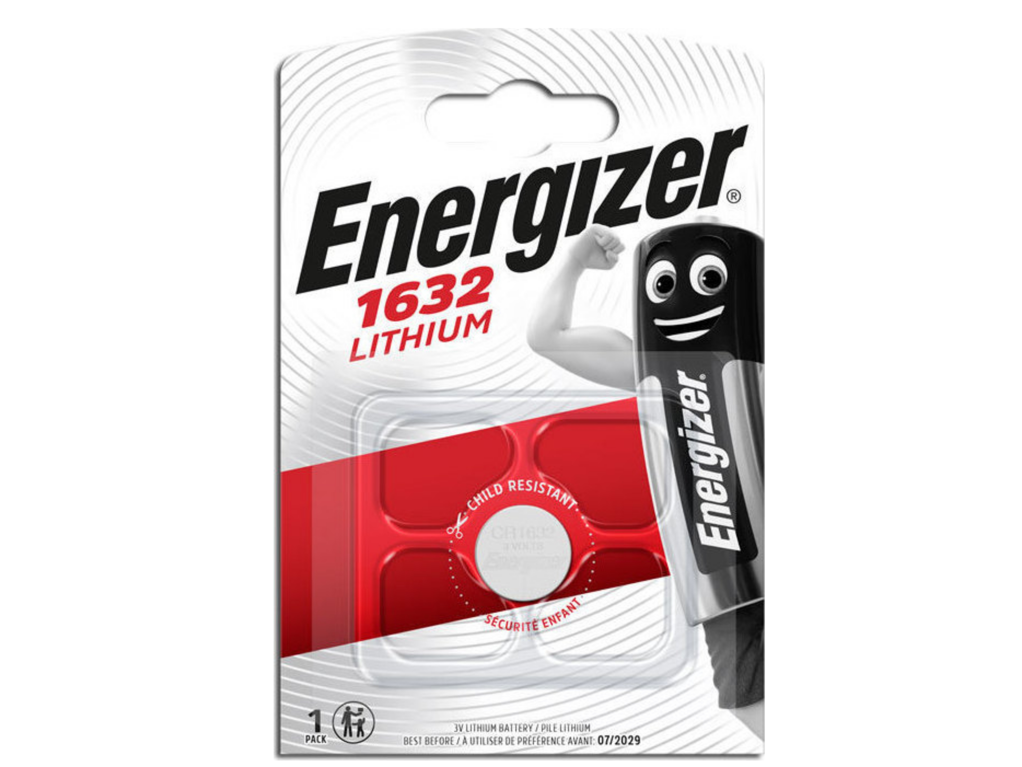 Buttoncell Lithium Energizer CR1632 Τεμ. 1
