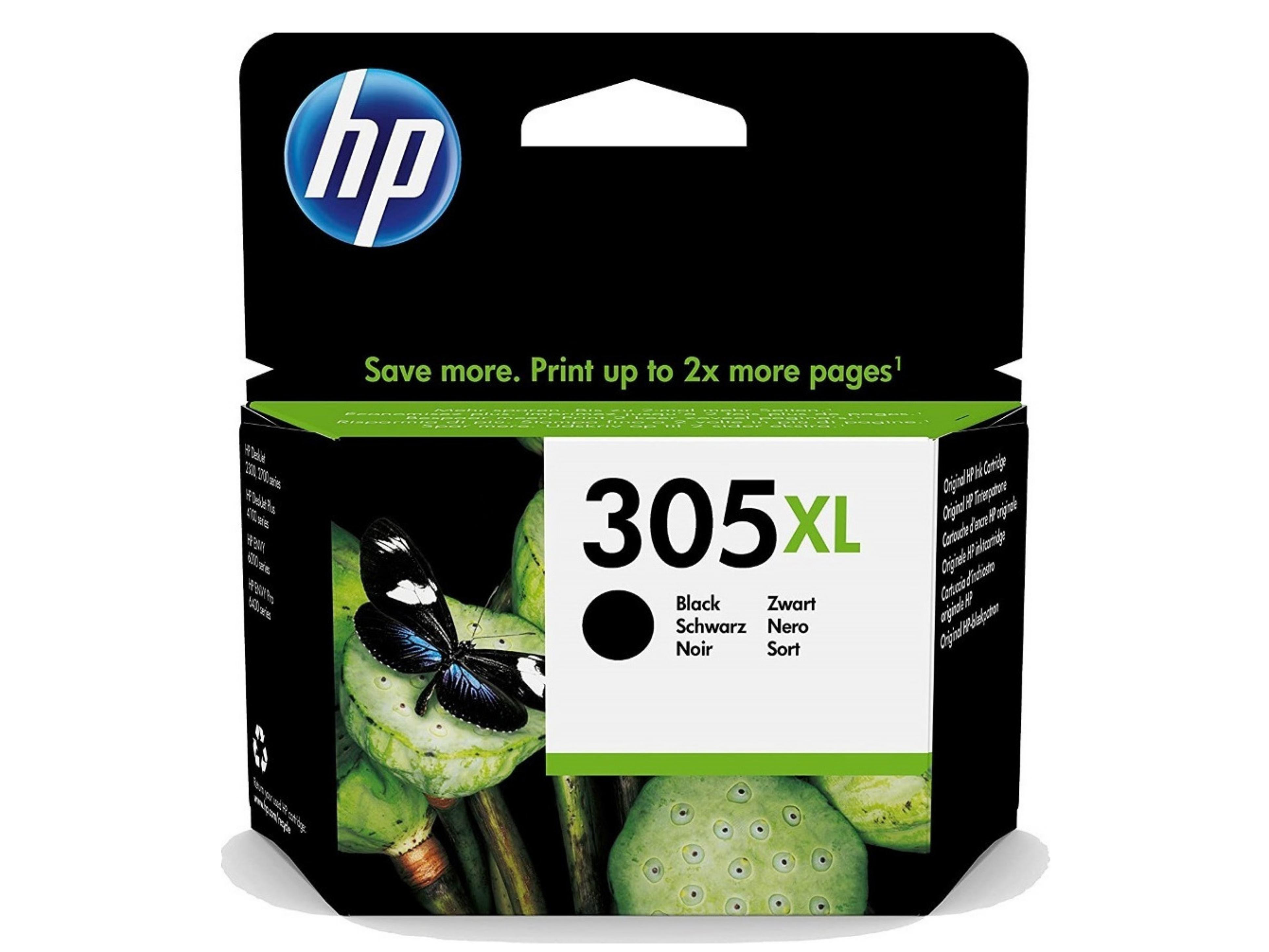 HP 305XL Black Μελάνι Εκτυπωτή InkJet Μαύρο (3YM62AE)
