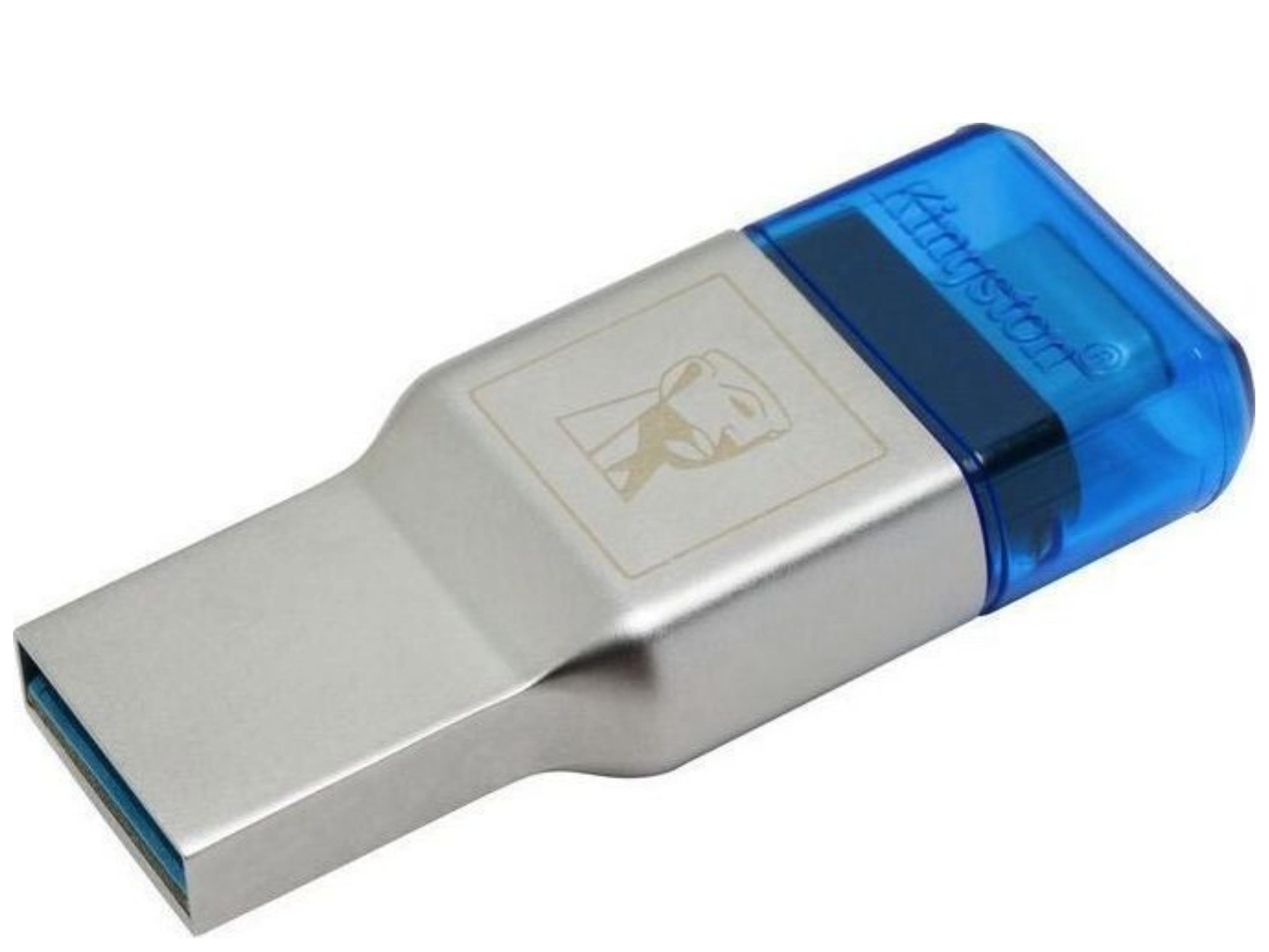 Kingston MobileLite Duo 3C Card Reader USB 3.1 Type-C για microSD Ασημί