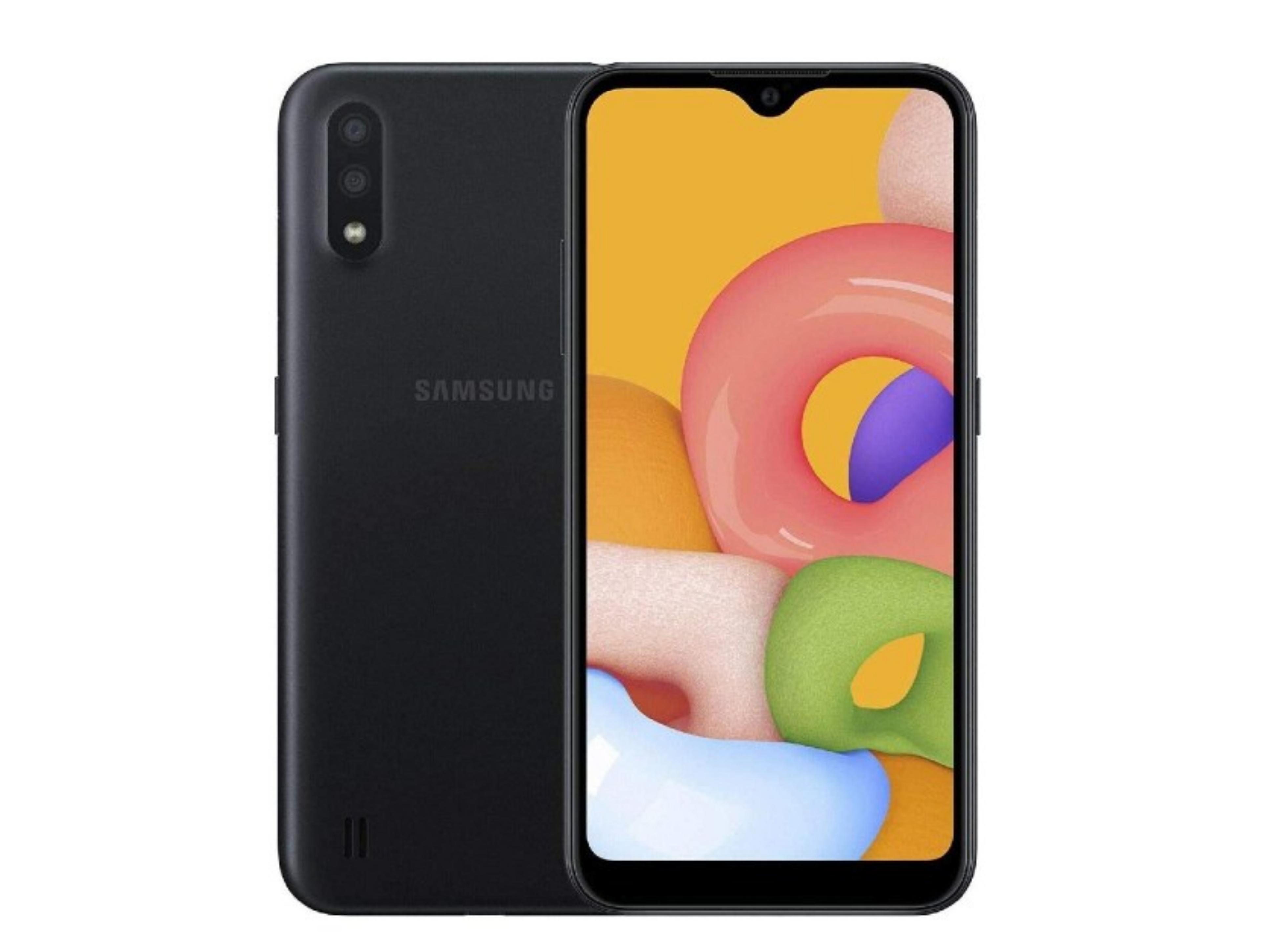 Samsung Galaxy A01 Dual Sim 5.3'' 4G 2GB/16GB Μαύρο NON EU Περιλαμβάνει EU Αντάπτορα
